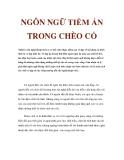 NGÔN NGỮ TIỀM ẨN TRONG CHÈO CỔ
