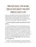 TRUYỆN KIỀU VỚI NGHỆ THUẬT SÂN KHẤU TRUYỀN THỐNG VIỆT NAM