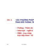 Chương 3: Các phương pháp trao đổi thông tin