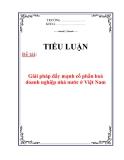 Tiểu luận: Giải pháp đẩy mạnh cổ phần hoá doanh nghiệp nhà nước ở Việt Nam