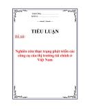 Tiểu luận:Nghiên cứu thực trạng phát triển các công cụ của thị trường tài chính ở Việt Nam