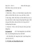 Đại số 9 - Tiết 11  Biến đổi đơn giản  biểu thức chứa căn thức bậc hai