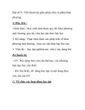 Đại số 9 - Tiết 6 Liên hệ giữa phép chia và phép khai phương