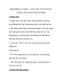 Đại số lớp 9 - Tiết40:  GIẢI BÀI TOÁN BẰNG  CÁCH LẬP HỆ PHƯƠNG TRÌNH