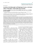 "Báo cáo y học: ""Correlation of the Radiographic and Morphological Features of the Dental Follicle of Third Molars with Incomplete Root Formation"""