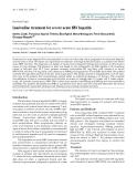"Báo cáo y học: ""Lamivudine treatment for severe acute HBV hepatitis"""