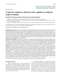 """Báo cáo y học: """"An innovative method to evaluate the suture compliance in sealing the surgical wound lip"""""""