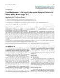 "Báo cáo y học: ""Hypoalbuminaemia – A Marker of Cardiovascular Disease in Patients with Chronic Kidney Disease Stages II - IV"""