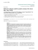 """Báo cáo y học: """"Multivariate explanatory model for sporadic carcinoma of the colon in Dukes' stages I and IIa"""""""