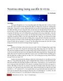 Neutrino năng lượng cao đến từ vũ trụ