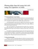 Phương pháp chụp ảnh mang tính cách mạng của Lippmann và Gabor