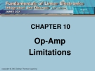 CHAPTER 10: Op-Amp Limitations