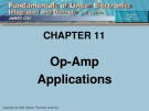 CHAPTER 11: Op-Amp Applications.