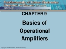 cHAPTER 9: Basics of Operational Amplifiers