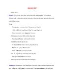 Ngữ pháp Tiếng Anh thông dụng: ĐỘNG TỪ TỔNG QUÁT
