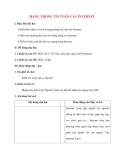 Giáo án Tin Học 10: MẠNG THÔNG TIN TOÀN CẦU INTERNET
