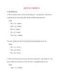 Ngữ pháp Tiếng Anh thông dụng: QUI TẮC CHÍNH TẢ