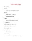 Giáo án Tin Học lớp 10: TỆP VÀ QUẢN LÝ TỆP
