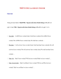 Ngữ pháp Tiếng Anh thông dụng: THÌ TƯƠNG LAI HOÀN THÀNH
