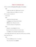 Ngữ pháp Tiếng Anh thông dụng: TÍNH TỪ CHỈ PHẨM CHẤT
