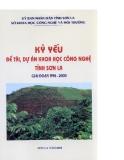 Kỷ yếu, đề tài, dự án khoa học công nghệ tỉnh Sơn La part 1