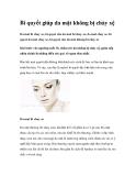Bí quyết giúp da mặt không bị chảy xệ