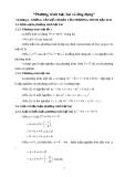 phương trình bậc hai và ứng dụng