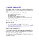 Các cách cài Windows XP