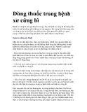 Dùng thuốc trong bệnh xơ cứng bì