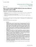 "Báo cáo y học: ""Effect of corticosteroids on phlebitis induced by intravenous infusion of antineoplastic agents in rabbits"""