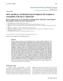 "Báo cáo y học: "" Safety and efficacy of undenatured type II collagen in the treatment of osteoarthritis of the knee: a clinical trial"""