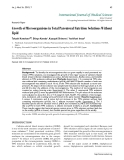 """Báo cáo y học: """"Growth of Microorganisms in Total Parenteral Nutrition Solutions Without Lipid"""""""