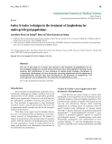 """Báo cáo y học: """"Godoy & Godoy technique in the treatment of lymphedema for under-privileged populations."""""""