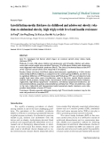 """Báo cáo y học: """" Carotid Intima-media thickness in childhood and adolescent obesity relations to abdominal obesity, high triglyceride level and insulin resistance"""""""