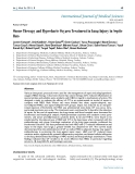 """Báo cáo y học: """"Ozone Therapy and Hyperbaric Oxygen Treatment in Lung Injury in Septic Rats"""""""