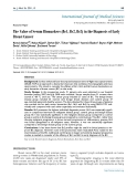 """Báo cáo y học: """" the Value of Serum Biomarkers (Bc1, Bc2, Bc3) in the Diagnosis of Early Breast Cancer"""""""