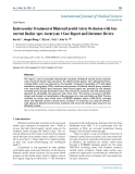 """Báo cáo y học: """"Endovascular Treatment of Bilateral Carotid Artery Occlusion with Concurrent Basilar"""""""