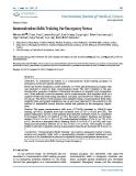 """Báo cáo y học: """"Communication Skills Training For Emergency Nurses"""""""