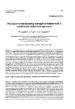 "Báo cáo lâm nghiệp: "" Prevision of the bending strength of timber with multivariate statistical approach"""