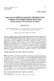 """Báo cáo khoa học: """"Importance de différents paramètres climatiques sur la croissance et la formation du bois de pin rouge (Pinus resinosa Ait) en Ontario (Canada)"""""""