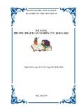 BÀI GIẢNG  PHƯƠNG PHÁP LUẬN NGHIÊN CỨU KHOA HỌC