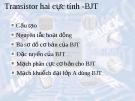 Transistor hai cực tính -BJT