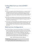 Calling Web Services with ASP.NET AJAX