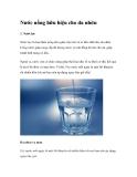 Nước uống hữu hiệu cho da nhờn