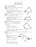 Bài tập tự giải môn cơ học ứng dụng