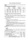 Thống kê doanh nghiệp - Phần 2 Một số bài tập tổng hợp