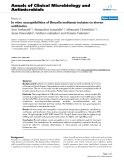"Báo cáo sinh học: ""In vitro susceptibilities of Brucella melitensis isolates to eleven antibiotics"""