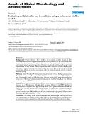 "Báo cáo sinh học: ""Evaluating antibiotics for use in medicine using a poloxamer biofilm model"""
