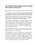 Giá vàng thế giới biến động mạnh xuất phát bởi ba nguyên nhân chính