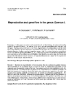 """Báo cáo khoa học: """"Reproduction  and gene flow in the genus Quercus"""""""
